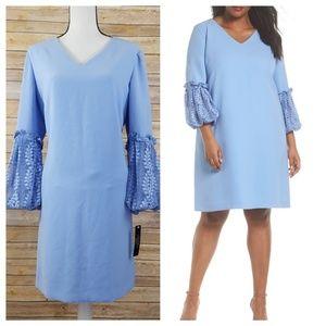 NWT Tahari ASL 16 Lace Sleeve Shift Dress